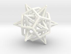 Dodeca Star Icoso Wire 4cm in White Processed Versatile Plastic