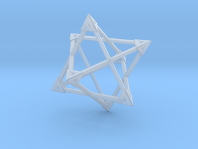 Merkaba Wire Pyramids Only 1 Caps 5cm in Smooth Fine Detail Plastic