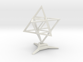 Merkaba Wire 1 W Base 5cm in White Natural Versatile Plastic