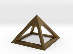 Pyramid Mike 3cm in Natural Bronze