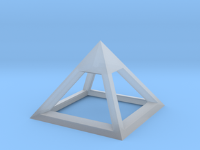 Pyramid Mike 3cm in Smooth Fine Detail Plastic