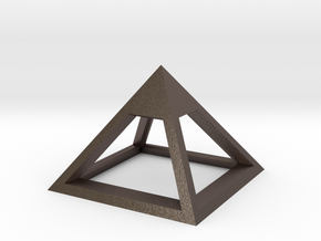 Pyramid Mike 3cm in Polished Bronzed Silver Steel