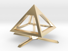 Pyramid Mike B 4cm in 14K Yellow Gold