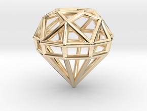 Gem Wire 5 Facets 3cm in 14K Yellow Gold