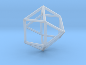 Cube Octohedron - 5cm in Smooth Fine Detail Plastic