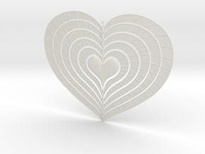 Change Of Heart Spinner Spiral Ribs 15cm in White Natural Versatile Plastic