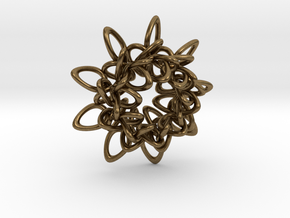 Ring Flower 1 - 4cm in Natural Bronze