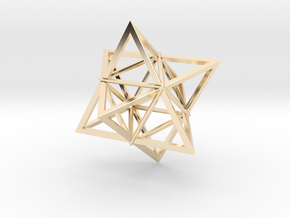 Merkaba Wire 1 5cm in 14K Yellow Gold