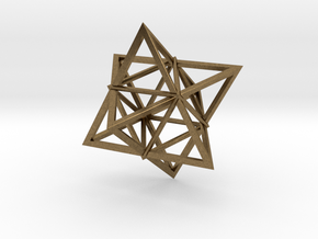 Merkaba Wire 1 5cm in Natural Bronze