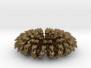 Wave Ring Doubly - 5cm in Natural Bronze
