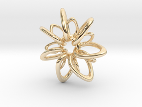 RingStar 7 points - 4cm in 14K Yellow Gold