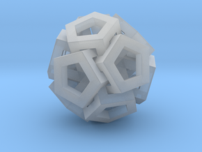 Pent Art Sphere in Smooth Fine Detail Plastic