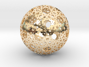 Star Weave Mesh Sphere in 14K Yellow Gold