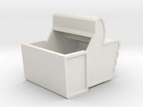 Facebook Box in White Natural Versatile Plastic