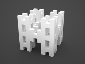 "Menger ""H"" Level 2 in White Natural Versatile Plastic"