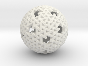 Trapezoidal Sphere in White Natural Versatile Plastic