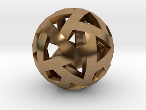 Triango Mesh Sphere in Natural Brass