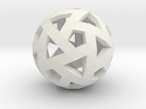 Triango Mesh Sphere in White Natural Versatile Plastic