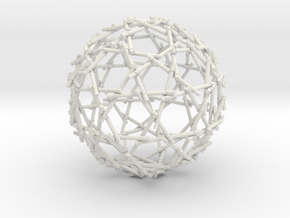 Bamboo Sphere in White Natural Versatile Plastic