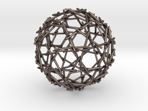 Bamboo Sphere in Polished Bronzed Silver Steel