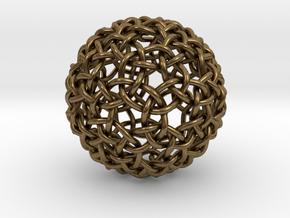 Weave Mesho Sphere in Natural Bronze
