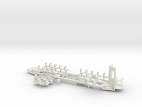 Konstal 105Na Fahrwerk Kabine klein in White Strong & Flexible