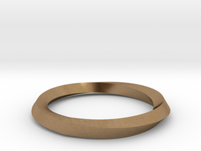 Mobius Wedding Ring-Size 8 in Natural Brass