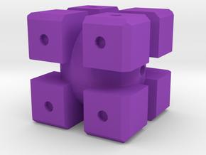 Dice63 in Purple Processed Versatile Plastic