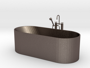 Badewanne in Polished Bronzed Silver Steel