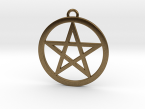Pentacle Pendant 5cm in Natural Bronze