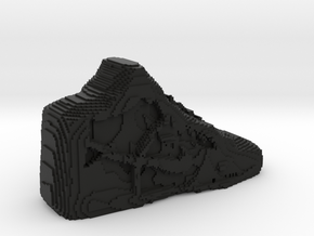 Pixelated Basketball Shoe by Suprint in Black Natural Versatile Plastic
