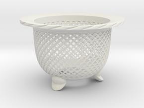"Neo Pot - Model 5 - Size 3.5 (3.2"" ID) in White Natural Versatile Plastic"