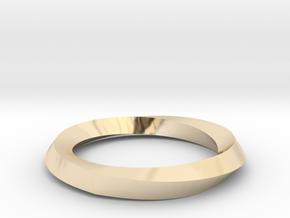 Mobius Wedding Ring-Size 4 in 14K Yellow Gold