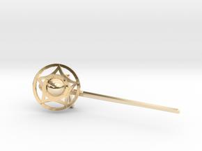 Sword & Buckler i33 (pendant) in 14K Yellow Gold