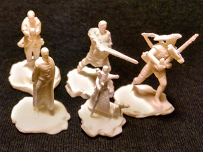 Cleric, Fighter, Rogue, Ranger, and Sorcerer in White Strong & Flexible Polished
