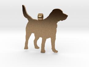 Labrador Retriever Silhouette Pendant in Natural Brass