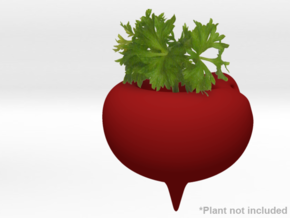 Beet Themed Necklace and Micro Plant Pot in White Natural Versatile Plastic
