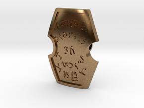 Maharlika Artifact Pendant in Natural Brass