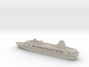 Pixellated Miniature Cruise Ship in Natural Sandstone