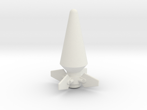 JK Rocket Top in White Natural Versatile Plastic