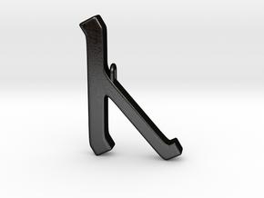 Rune Pendant - Cēn in Matte Black Steel