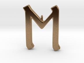 Rune Pendant - Eh in Natural Brass
