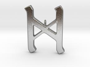Rune Pendant - Dæg in Natural Silver
