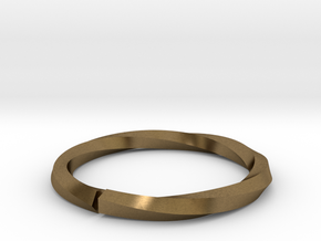 Nurbs Wedding Ring-Size 4.5 in Natural Bronze