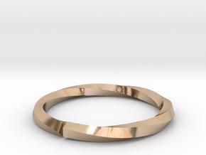 Nurbs Wedding Ring-Size 4.5 in 14k Rose Gold