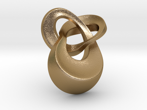 Knot 4 pendant 30mm in Polished Gold Steel