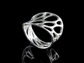 1-layer twist ring in Polished Silver: 5 / 49