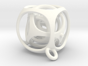 Gyro the Cube (XS) (Ring + Smooth) in White Strong & Flexible Polished