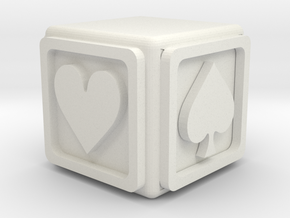Euchre Cube in White Natural Versatile Plastic