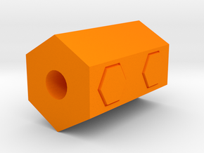Hexagon Airsoft Muzzle Suppressor (14mm Self-Cutti in Orange Processed Versatile Plastic
